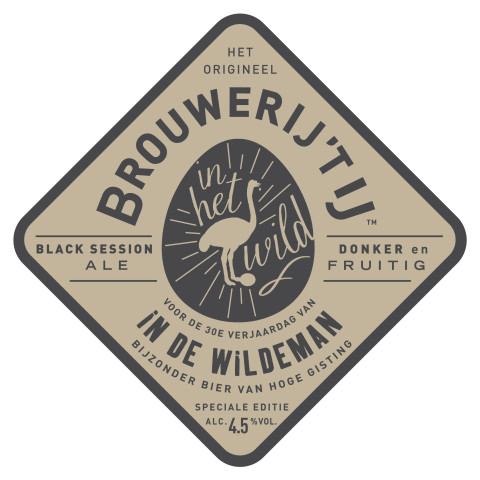In de Wildeman black session ale Brouwerij 't IJ