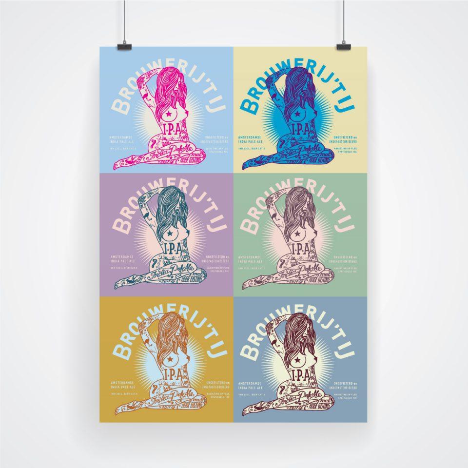 Brouwerij 't IJ IPA poster